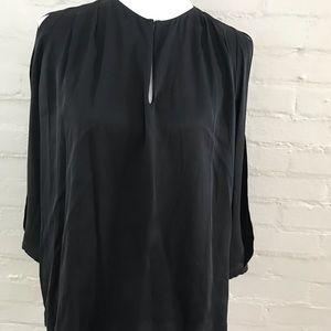 Diane Von Furstenberg Black silk blouse.